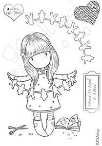 Gorjuss Girl I FOUND MY FAMILY IN A BOOK Clear Stamp Spend