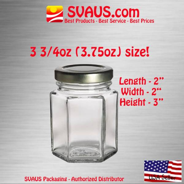 4 Oz Glass Jar with Lid Candle