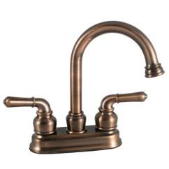Brushed Bronze Kitchen Faucet Dishes Sets Ldr 44024br High Arc 4 Quot Centerset Bathroom