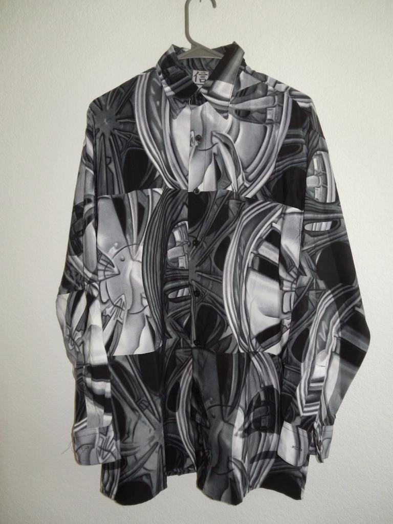New Men's Trust Patterned Button Front Shirts  Sizes M, L