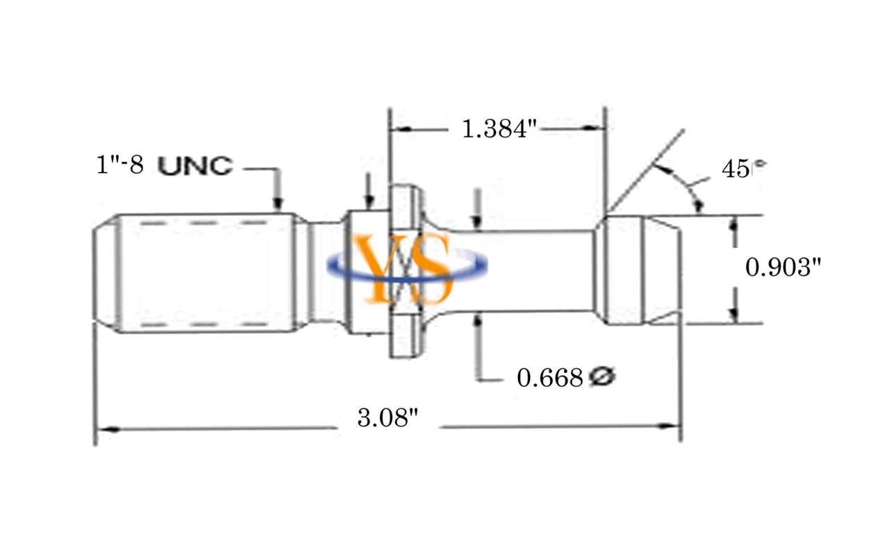 CAT 50 45 0.903 Pull Stud Retention Knob For HAAS Machine