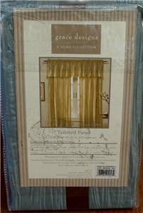 "Grace Designs 48"" X 63"" Pleated Taffeta Taylored Curtain"