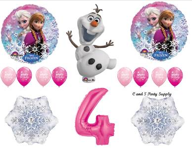 FROZEN 4th HAPPY BIRTHDAY BALLOON KIT