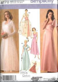 Simplicity Sewing Pattern Bridal Evening Gown Bridesmaid ...