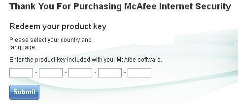 Mcafee Register Retail Card