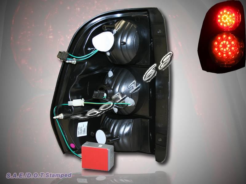 20022009 CHEVROLET TRAILBLAZER LED TAIL LIGHTS RED SMOKE 03 04 05 06 07 08