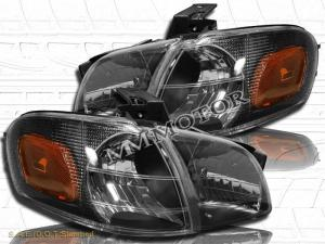 9704 Chevy Venture Silhouette Black Headlights  Corner