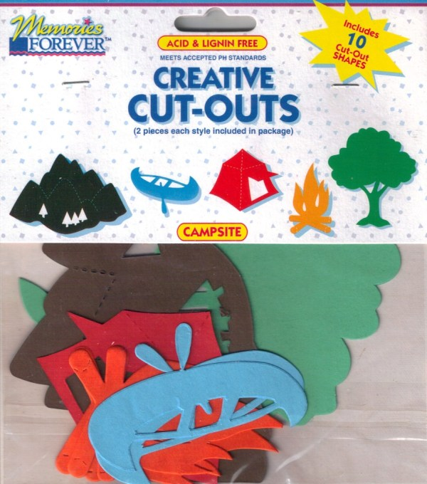 ASSORTED CUTOUTS 10 PIECES for Scrapbooking Choice