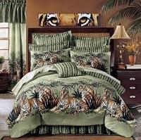 NEW King Size Tiger Jungle Safari Bedding Comforter Set