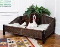 Wicker Dog Bed with Easy Clean Pet Cushion Soft Pillow   eBay