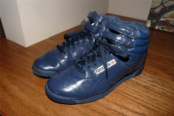 Womens 1980s Reebok Classic Free Style High Tops Shoes