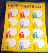 HAPPY BIRTHDAY Chart Poster Teacher Kindergarten Skills