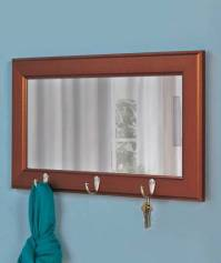 New Entryway Pub Wall Mirror with Hooks Black or Brown | eBay