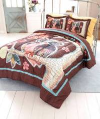 NEW Trendy Owl Friend Bedroom Comforter TWIN or FULL ...
