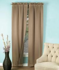 2 pc Window Curtain Panels Room Taupe Tan Burgundy Black ...