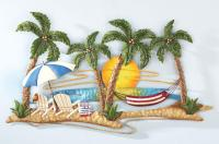 New Tropical Island Beach Palm Trees Hammock Sunset ...