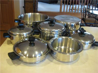RENA WARE SET VINTAGE COOKWARE 13 PIECES MADE IN USA 6 QT