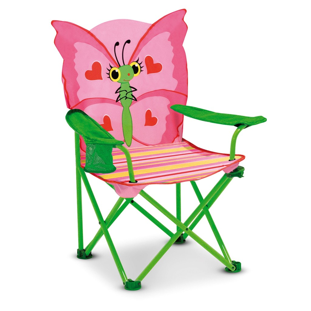 Melissa  Doug Childrens Lawn Chair Pink Bella Blossom OR