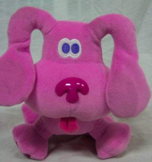 "Eden Blue' Clues Magenta Puppy Dog 7"" Plush Stuffed"