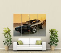 DODGE CHARGER MUSCLE CAR GIANT WALL ART PRINT POSTER ...