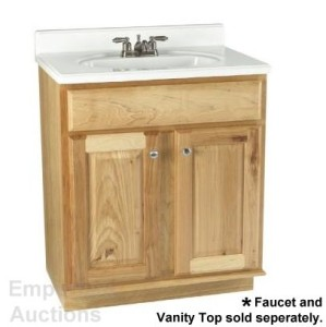 Natural Hickory Vanity Cabinet 30 Bath Bathroom Sink  eBay