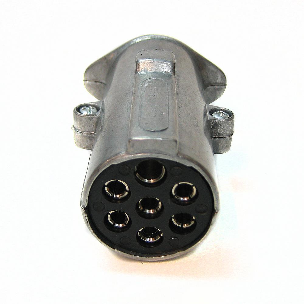 Pin Metal Trailer Plug Socket Caravan Towbar Wiring Towing