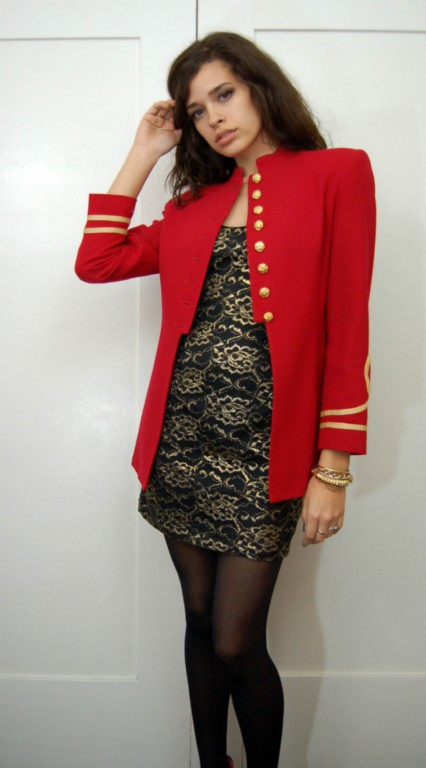 Vintage sgt pepper red military jacket
