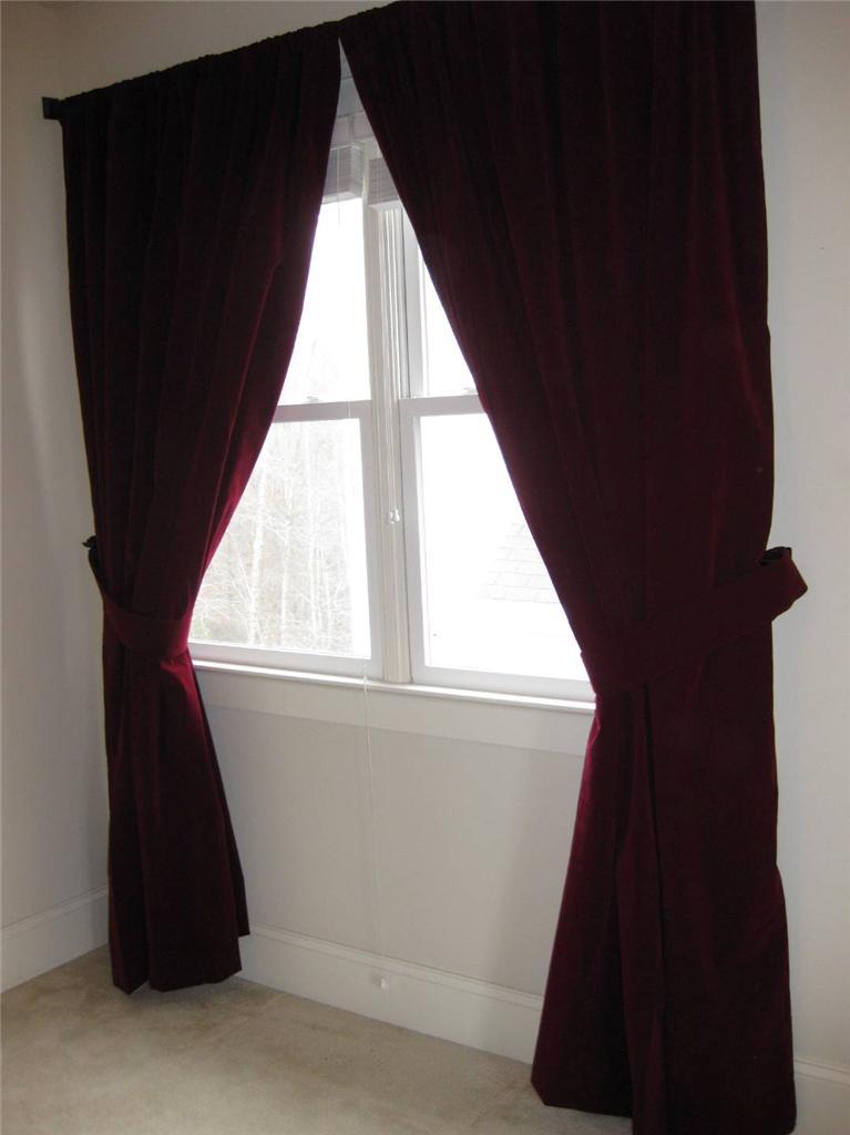 Extra Large Backdrop Room Divider Drapes Burgundy Velvet 14ft Curtain Long Panel EBay