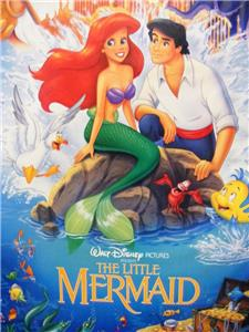DISNEY THE LITTLE MERMAID ORIGINAL 1989 BANNED ONE SHEET