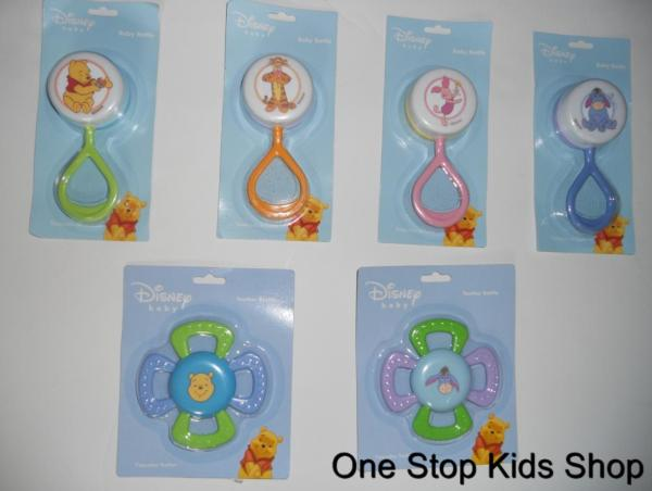 Winnie Pooh Baby Toy Rattle Teether Piglet Eeyore Tigger Disney