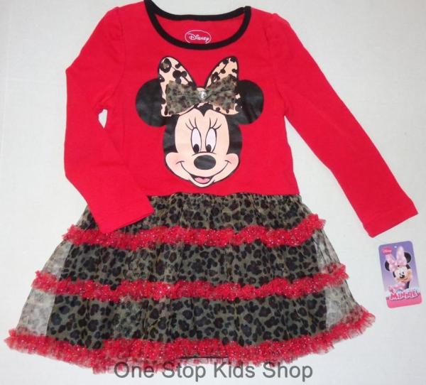 Minnie Mouse Girls 2t 3t 4t 5t Set Dress Outfit Shirt Pants Skirt Disney