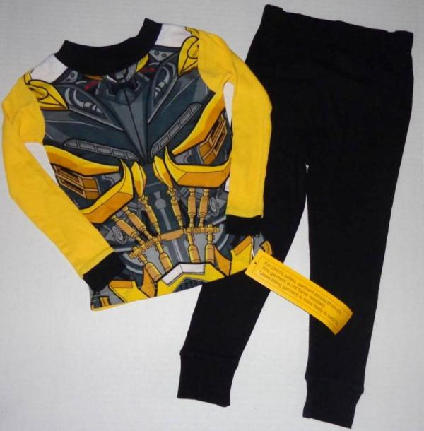 Transformers Boy 4 6 8 10 Pjs Set Pajamas Shirt Pants Bumblebee Optimus Prime