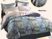 DAN RIVER MONET COURT COMFORTER QUEEN BED IN A BAG BLUE
