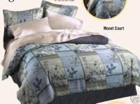 DAN RIVER MONET COURT COMFORTER QUEEN BED IN A BAG BLUE