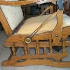 How To Repair A Glider Rocking Chair Modern Dining Room Chairs Antique Recliner For Restoration Turn Of Century | Ebay