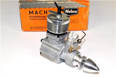 Rare 1964 Webra Mach II 249 Cc Diesel Model Engine New