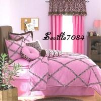 10p FULL Seventeen Pink Zebra Giraffe Comforter Set+Sheets ...