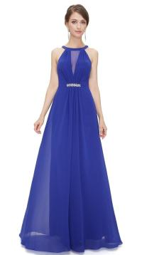 BNWT ORLA Cobalt Blue Chiffon Maxi Prom Evening Bridesmaid