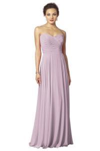 BNWT FEARNE Dusky Lilac Lavender Strapless Chiffon ...