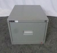 Godfrey Single Drawer Filing Cabinet Olive Metal 25792/26 ...