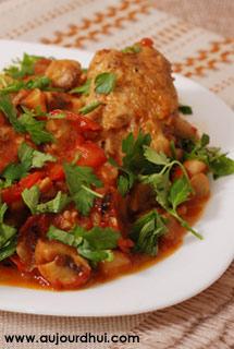Poulet basquaise poulet tomates poivron  Recette plat  Aujourdhuicom