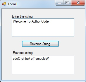 How to reverse a string in C# and VB Net|reverse a string in
