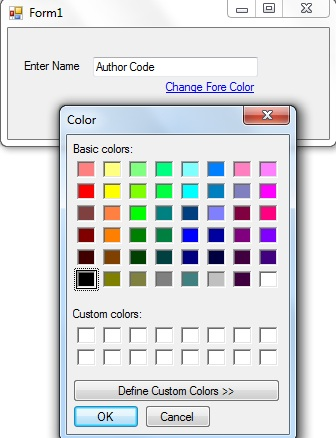 Change the color of the label and textbox