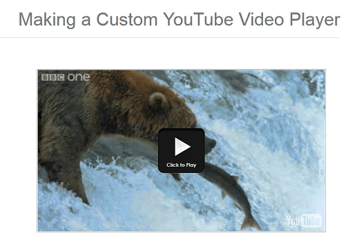 Making a Custom YouTube Video Player JQUERY - AuthorCode