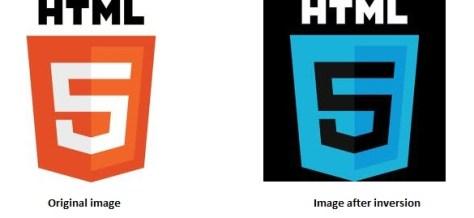 Invert image in html5