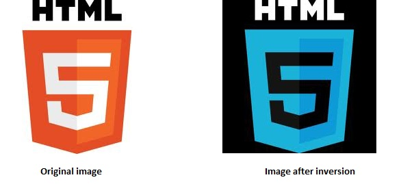 Invert image in html5