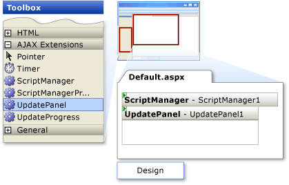 Update panel on the page