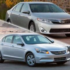 All New Camry Vs Accord Toyota Yaris Trd Rear Sway Bar Compare 2012 Honda Autobytel Com