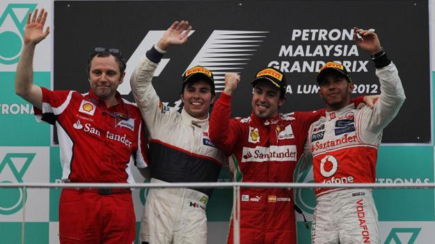 Checo Prez logra su primer podium en la F1 en el GP de