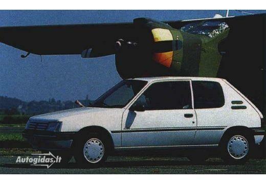 Peugeot 205 1 4 Xr 1991 1992 Autocatalog Autogidas Lt